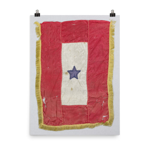 Blue Star Service Flag Premium Luster Photo Paper Poster