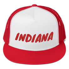 Load image into Gallery viewer, Indiana Text Red, Trucker Cap