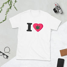 Load image into Gallery viewer, I Love Cannabis, Short-Sleeve Unisex T-Shirt