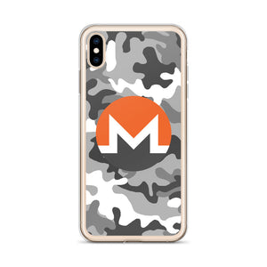 Monero Cryptocurrency Logo, iPhone 6-XSmax Case Camo