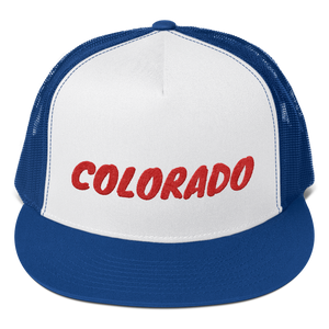 Colorado Text Red, Trucker Cap