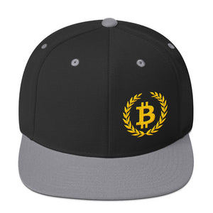 Bitcoin Wreath Gold, Snapback Hat