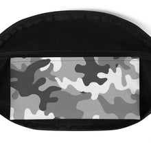 Load image into Gallery viewer, Gray Camouflage Pattern, Fanny Pack