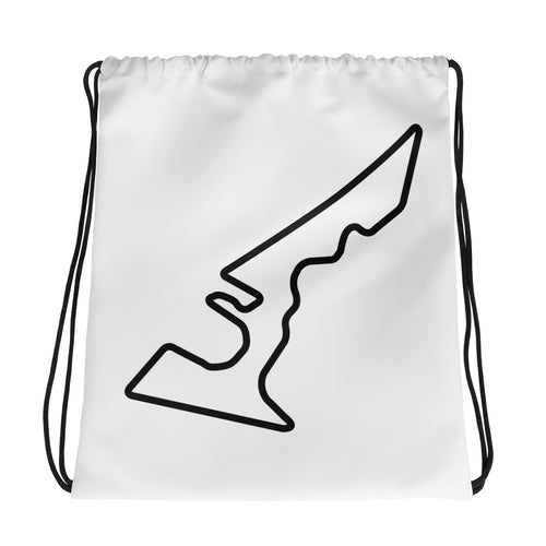 Austin Texas Circuit of The Americas Track Map, Drawstring bag WHITE