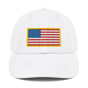 US Flag Patch Style With USA Text, Dad Hat