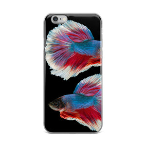 Betta Splendens Fighting Fish, iPhone Case Black
