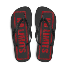 Load image into Gallery viewer, No Limits Sign Red, Unisex Flip-Flops