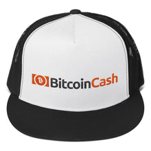 Load image into Gallery viewer, Bitcoin Cash Cryptocurrency Logo and Text, Classic Trucker Cap