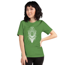 Load image into Gallery viewer, Peacock Feather Art, Women's Short-Sleeve T-Shirt