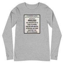 Load image into Gallery viewer, Alcatraz Rules Nr 5 Sign, Unisex Long Sleeve T-shirt