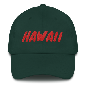 Hawaii Text Red, Dad hat