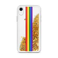 Load image into Gallery viewer, Pride Rainbow Flag Colors 2, Liquid Glitter iPhone Case