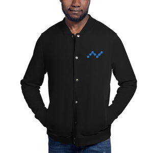 Nano Cryptocurrency Logo, Men's Embroidered Champion Bomber Jacket