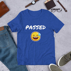 Passed Text With Emoji, Short-Sleeve Unisex T-Shirt