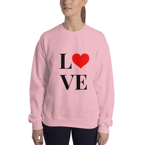 Love Heart 2, Unisex Sweatshirt Pink