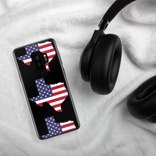 Load image into Gallery viewer, State of Texas Map With US Flag Multiple, Samsung Case