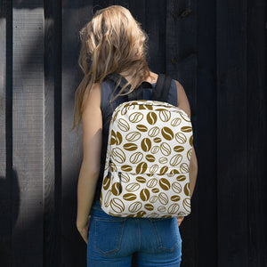 coffee beans printed backpack