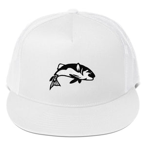Bass Fish, Classic Trucker Cap White