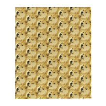 Load image into Gallery viewer, Dogecoin Shiba Inu Pattern, Throw Blanket