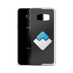 Waves Cryptocurrency Logo, Samsung Galaxy S8-10+ Case