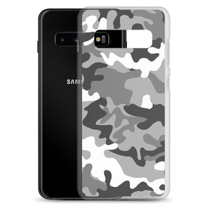 Camouflage Gray Pattern Print, Samsung Galaxy S8-S10+ Case