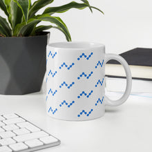 Load image into Gallery viewer, Nano Cryptocurrency Logo Pattern, White Glossy Coffee Mug