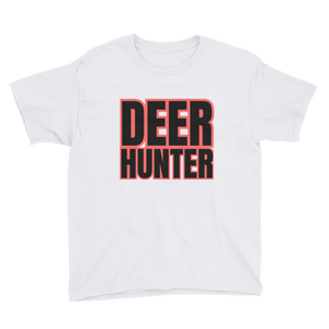 Deer Hunter Text, Youth Short Sleeve T-Shirt