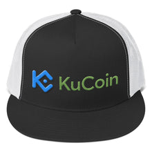 Load image into Gallery viewer, KuCoin Cryptocurrency Exchange Logo, Trucker Cap