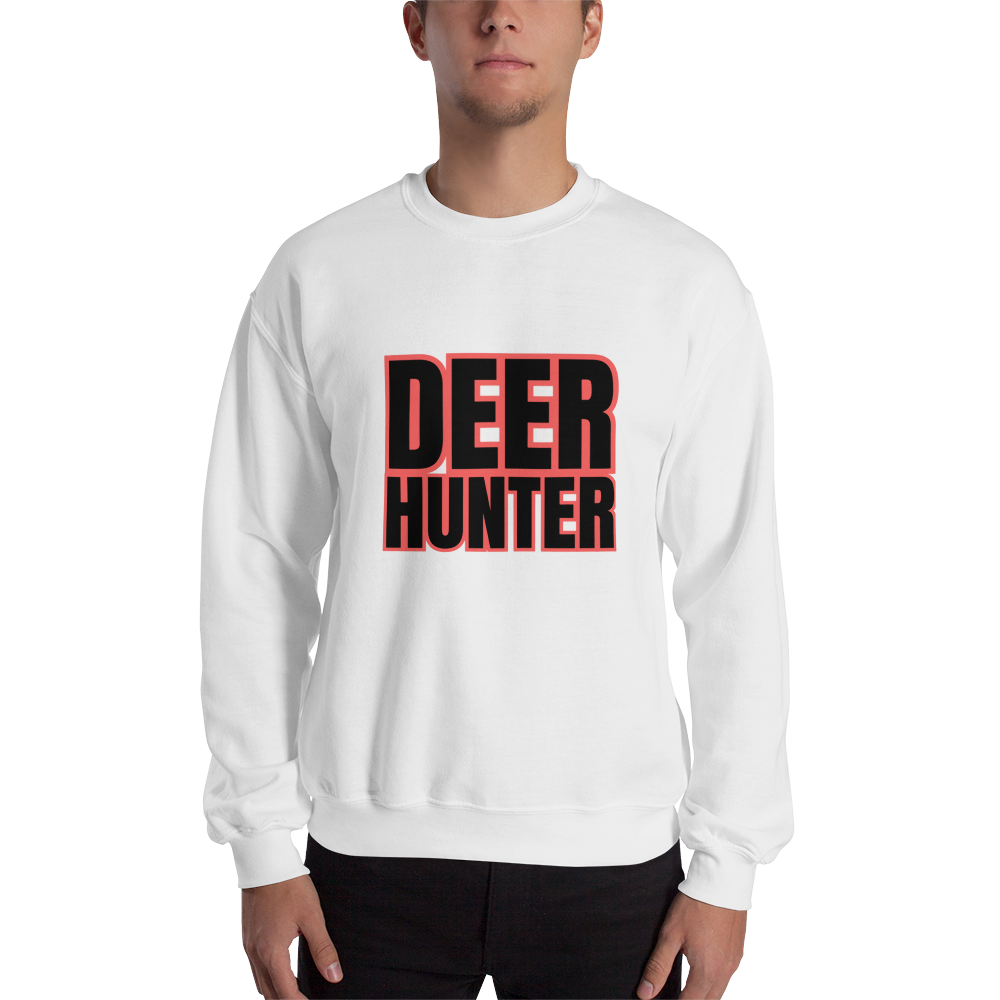 Deer Hunter Text, Unisex Sweatshirt