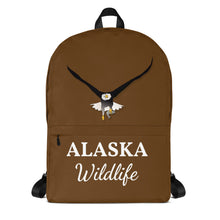Load image into Gallery viewer, Alaska Wildlife Eagle, Backpack Brown