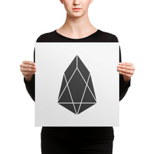 Load image into Gallery viewer, EOS Crypto Currency Logo, Canvas Wall Art