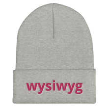 Load image into Gallery viewer, Wysiwyg Text, Unisex Cuffed Beanie