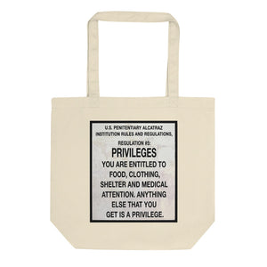 Alcatraz Prison Regulation Nr 5 Sign, Eco Tote Bag
