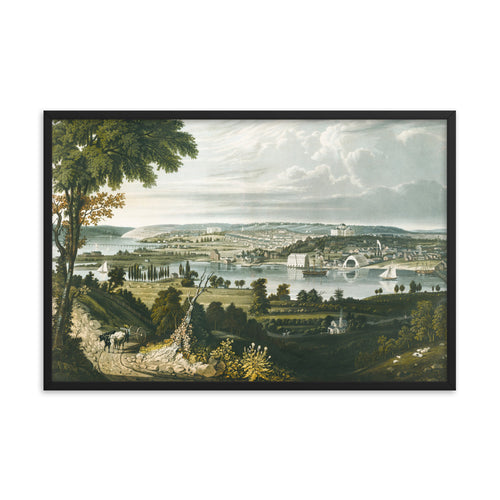 City of Washington 1834 Framed Poster