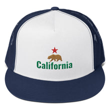 Load image into Gallery viewer, California Flag Bear and Star, Classic Trucker Cap
