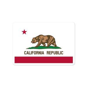 California Republic Flag, Bubble-free Die Cut Sticker