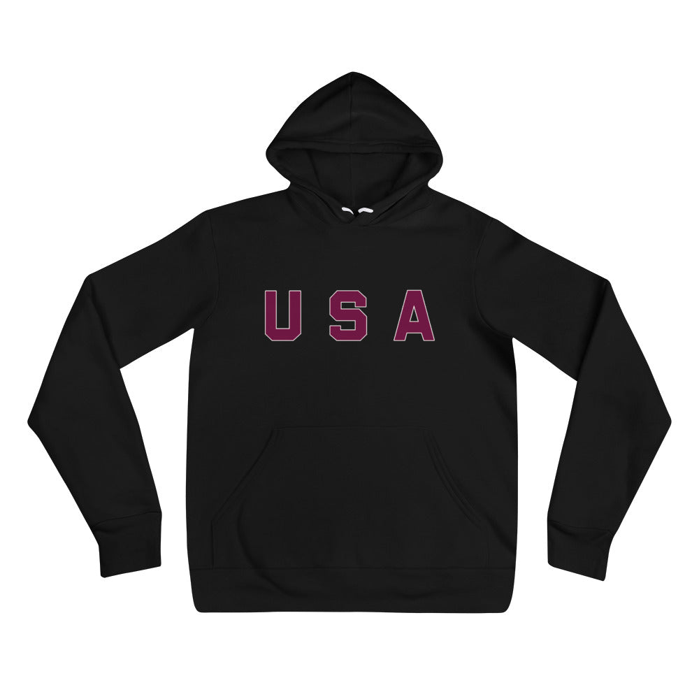 USA Text, Printed Unisex Hoodie