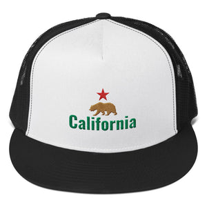 California Flag Bear and Star, Classic Trucker Cap
