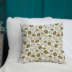 Coffee Beans Print, Premium Pillow