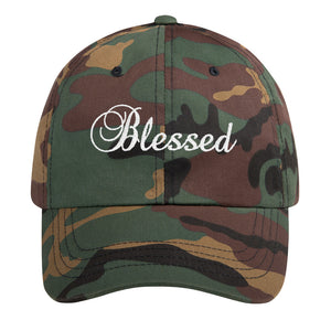Blessed Text White, Dad Hat