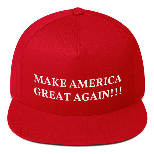 Design Your Own MAGA Style, Flat Bill Snapback Hat Red