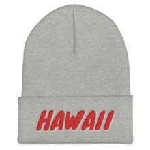 Load image into Gallery viewer, Hawaii Text Red, Unisex Cuffed Beanie