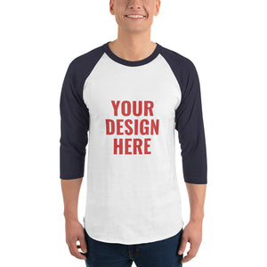 Design Your Own, Unisex 3/4 Sleeve Raglan Shirt