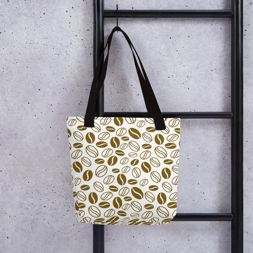 coffee beans tote bag