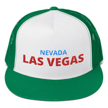 Load image into Gallery viewer, Las Vegas Nevada Red Blue Text, Trucker Cap