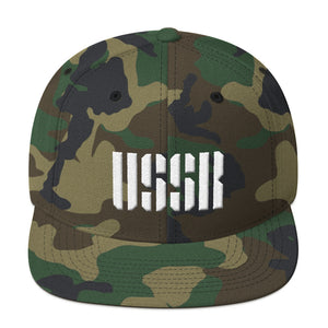 USSR Text 3D Puff, Snapback Hat