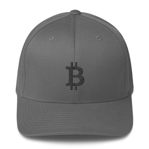 Bitcoin Cryptocurrency Logo Black, Baseball Cap