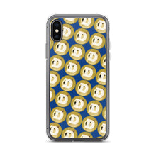 Load image into Gallery viewer, Dogecoin Logo Pattern, iPhone Case Dark Blue