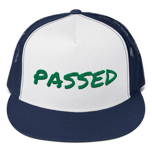 Passed Text Green, Trucker Cap