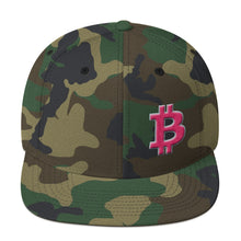 Load image into Gallery viewer, Bitcoin BTC Symbol Hot Pink, Wooled Snapback Hat